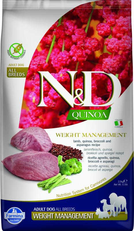 FARMINA N&D WEIGHT MANAGEMENT Quinoa Agneau & Brocolis pour Chien en Surpoids