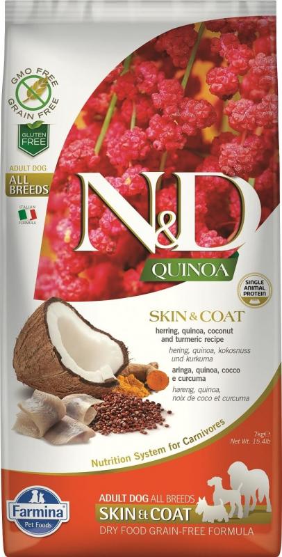 FARMINA N&D SKIN&COAT Hareng & Noix de Coco pour Chien Adulte
