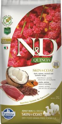 FARMINA N&D SKIN&COAT Canard & Noix de Coco pour Chien Adulte