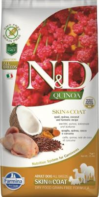 FARMINA N&D SKIN&COAT Caille & Noix de Coco pour Chien Adulte
