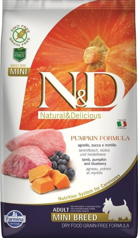 FARMINA N&D Grain Free Potiron Agneau & Myrtilles pour chien adulte de petite taille