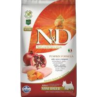 FARMINA N&D Grain Free Potiron Poulet & Grenade pour chien adulte de petite taille
