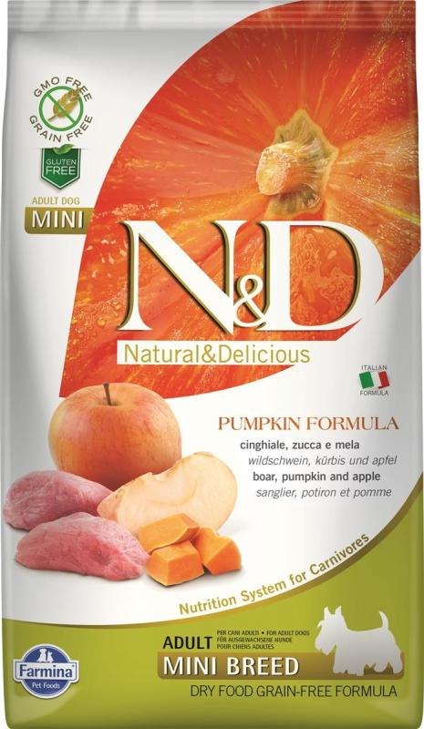 FARMINA N&D Grain Free Potiron Sanglier & Pommes pour chien adulte de petite taille