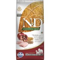 FARMINA N&D Ancestral Grain Poulet & Grenade pour chien adulte de taille moyenne et maxi