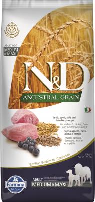 FARMINA N&D Ancestral Grain Agneau & Myrtilles pour chien adulte Medium/Maxi