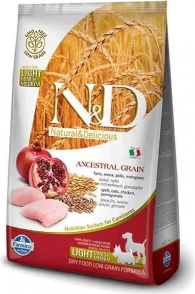 FARMINA N&D Low Grain LIGHT Poulet & Grenade pour chien adulte de petite et moyenne taille