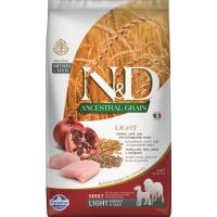 FARMINA N&D Ancestral Grain LIGHT Poulet & Grenade pour chien adulte de taille medium/maxi
