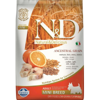 FARMINA N&D Low Grain Poisson & Orange pour chien adulte de petite taille