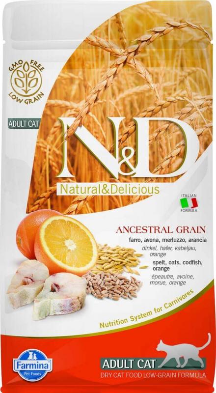 FARMINA N&D Low Grain Poisson & Orange pour Chat Adulte