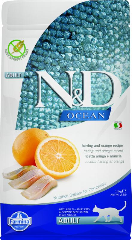 FARMINA N&D Ocean Poisson & Orange pour Chat Adulte