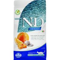 Farmina N&D Ocean Croquettes au Hareng, potiron et Orange pour Chat Adulte