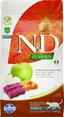 FARMINA N&D Grain Free Potiron Cerf & Pomme pour Chat Adulte