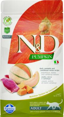 FARMINA N&D Grain Free Potiron Canard & Melon Cataloup pour Chat Adulte
