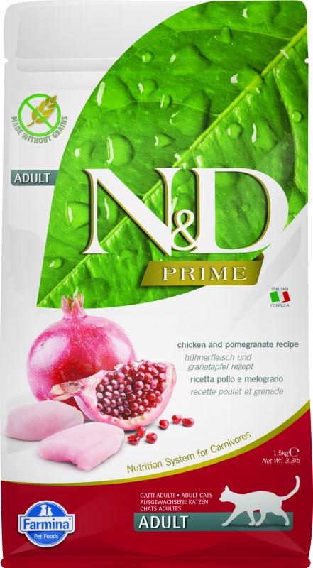 FARMINA N&D Prime au Poulet & Grenade pour Chat Adulte