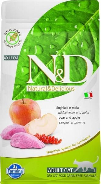 FARMINA N&D Grain Free au Sanglier & Pomme pour Chat Adulte