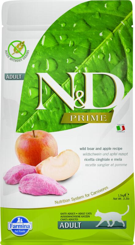 FARMINA N&D Prime au Sanglier & Pomme pour Chat Adulte
