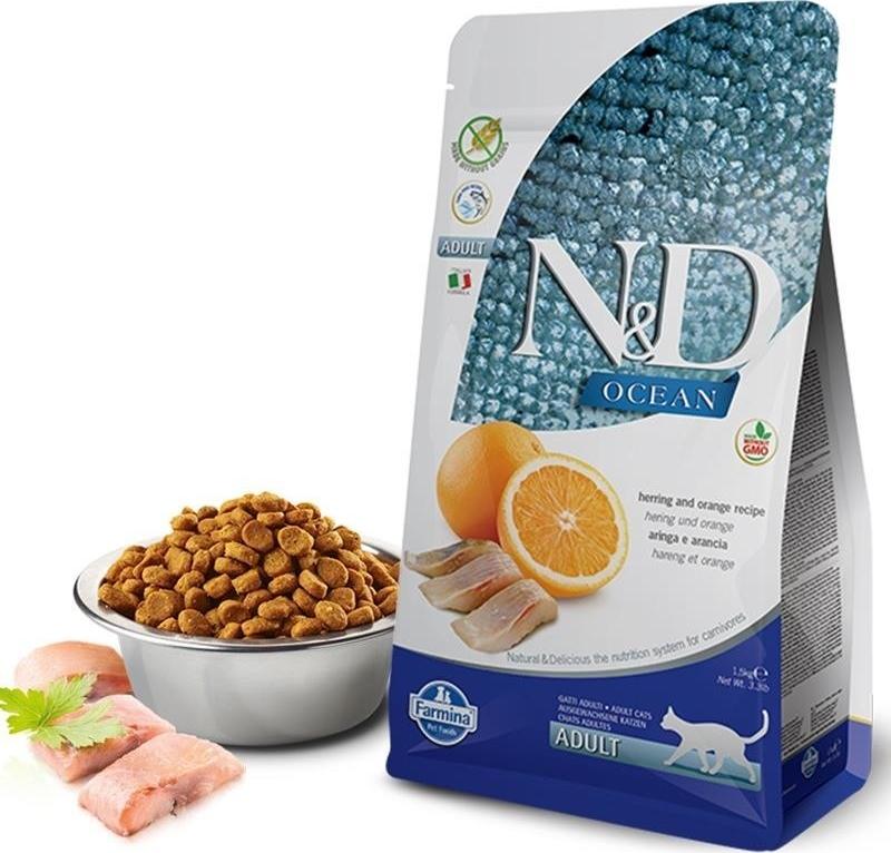 FARMINA N&D Ocean - Poisson & Orange pour Chat Adulte