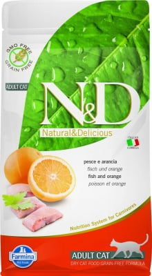 FARMINA N&D Grain Free au Poisson & Orange pour Chat Adulte
