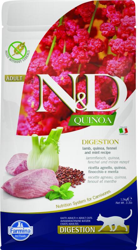 FARMINA N&D DIGESTION Quinoa Agneau & Fenouil pour Chat Adulte