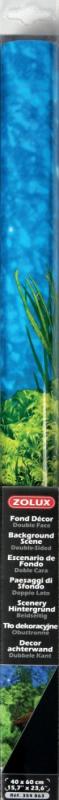 Poster fond décor pour aquarium recto racines plantes verte et verso noir