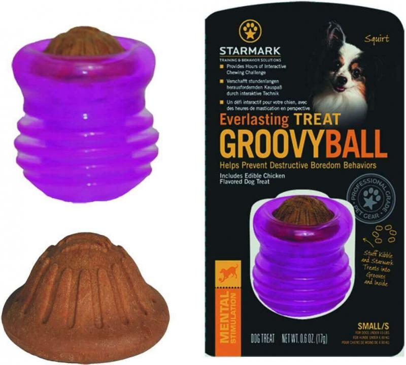 Jouet à mâcher Everlasting Treat Groovy Ball
