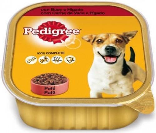 Pâtée en barquette PEDIGREE au Boeuf et Foie pour chien adulte