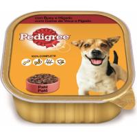 Pâtée en barquette PEDIGREE boeuf et Foie pour chien adulte