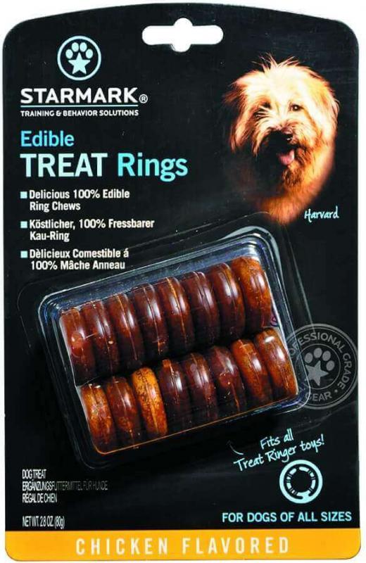 Anneaux friandises pour jouet pour chien Everlasting Edible Treat Rings