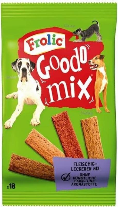 Friandises FROLIC Goodo Mix à la viande pour chien adulte