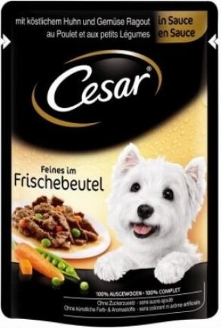 Sachet fraîcheur CESAR en sauce pour petit chien - 2 saveurs au choix
