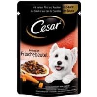 Sachet fraîcheur CESAR en sauce pour petit chien - 2 saveurs au choix (1)