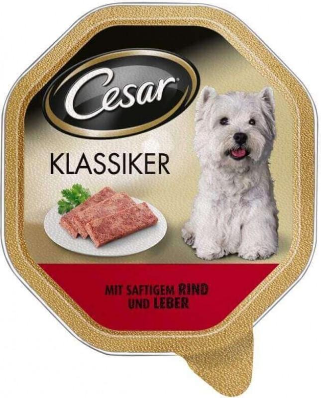 Pâtée CESAR CLASSIC en barquette pour chien adulte de petite taille - 3 saveurs au choix