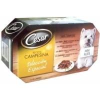 Pack de 4 pâtées CESAR Recette de Campagne - 4 saveurs