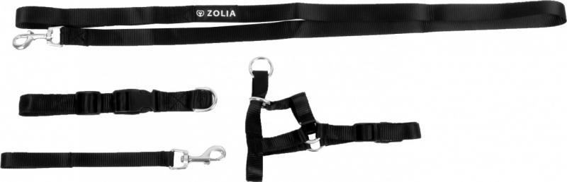 Licol pour chien noir Zolia - Plusieurs tailles disponibles