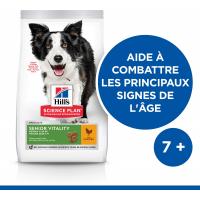 HILL'S Science Plan Canine Mature Adult 7+ Senior Vitality Medium croquettes pour chien adulte de taille moyenne