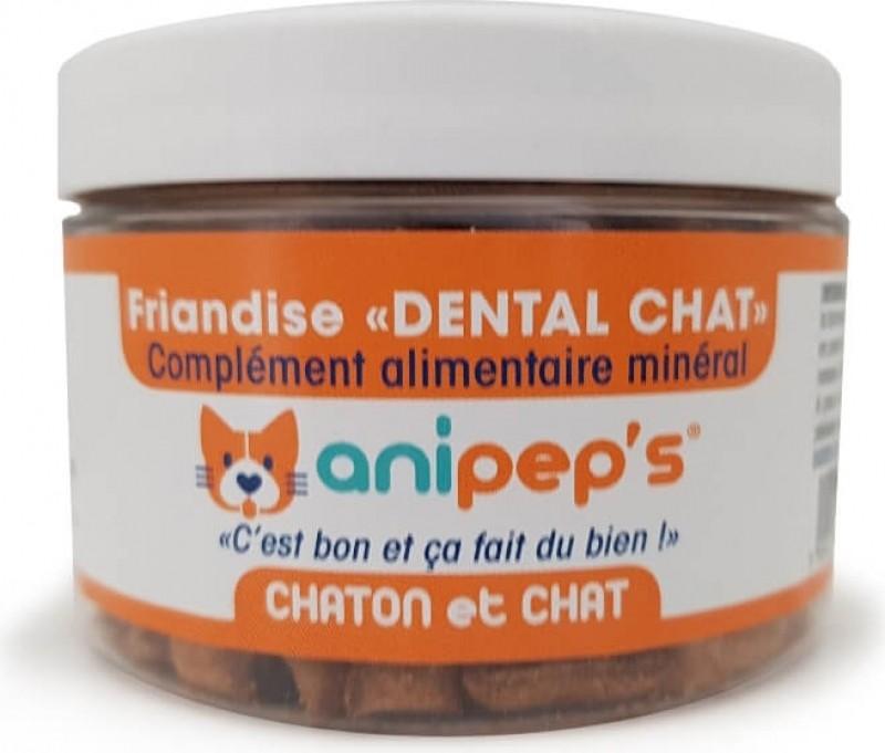 Friandises Médicalisées ANIPEP'S Dental pour chat adulte et chaton