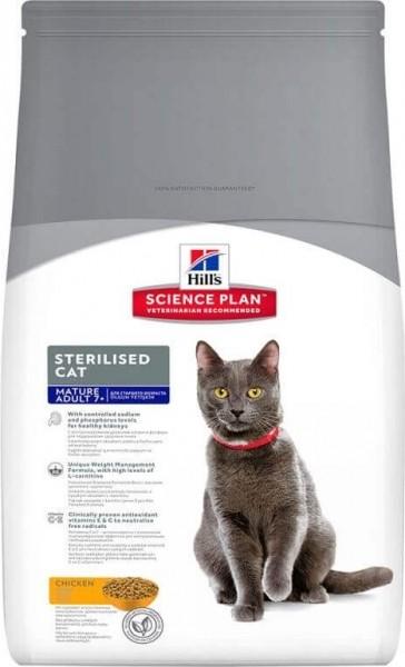 HILL'S Science Plan Sterilised Mature 7+ Poulet pour chat senior stérilisé