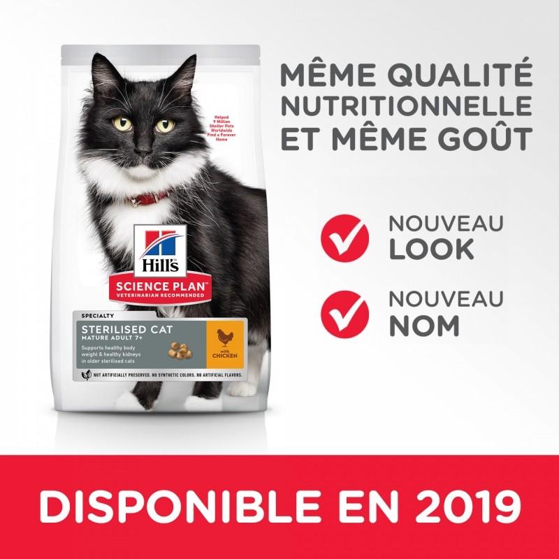 HILL'S Science Plan 'Feline Mature Adult 7+ Sterilised Poulet pour chat senior stérilisé