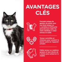 HILL'S Science Plan 'Feline Mature Adult 7+ Sterilised Poulet pour chat senior stérilisé