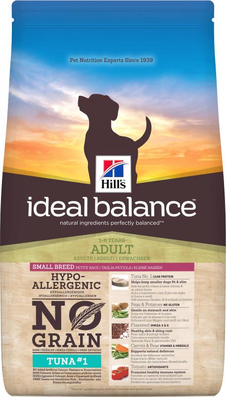 HILL'S Ideal Balance Sans Céréales Adult Mini Thon & Pomme de Terre pour chien adulte de petite taille