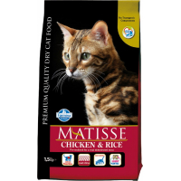 Croquetes MATISSE com Frango & arroz para gatos adultos