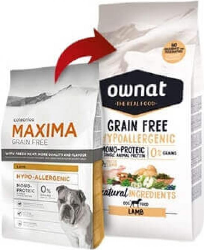 OWNAT Hypoallergen ohne Getreide Lamm für empfindliche erwachsene Hunde