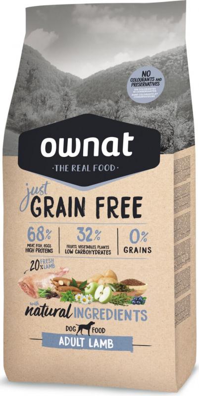 OWNAT Just Grain Free Adult senza cereali con agnello per cani adulti