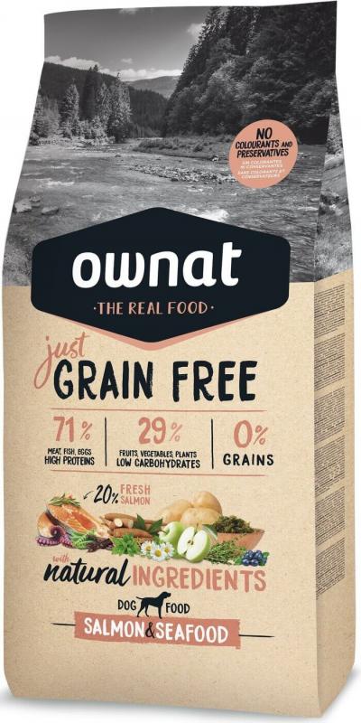 OWNAT Just Grain Free Adult Adult ohne Getreide mit Lachs und Fisch für Hunde