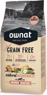 OWNAT Just Grain Free Adult sans céréales au saumon & poissons pour chien adulte