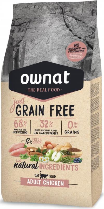 OWNAT Just Grain Free Adult mit Hühnchen für Katzen