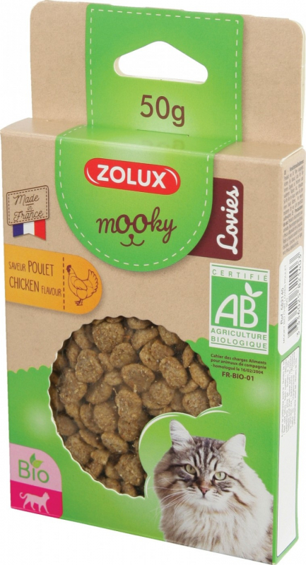 Friandise ZOLUX Mooky bio Lovies pour Chat & Chaton - 4 Saveurs au choix