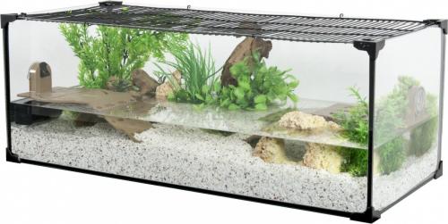 Aquarium tortue Karapas noir - plusieurs tailles