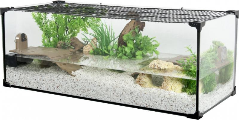 Karapas Schildkrötenaquarium schwarz - verschiedene Größen