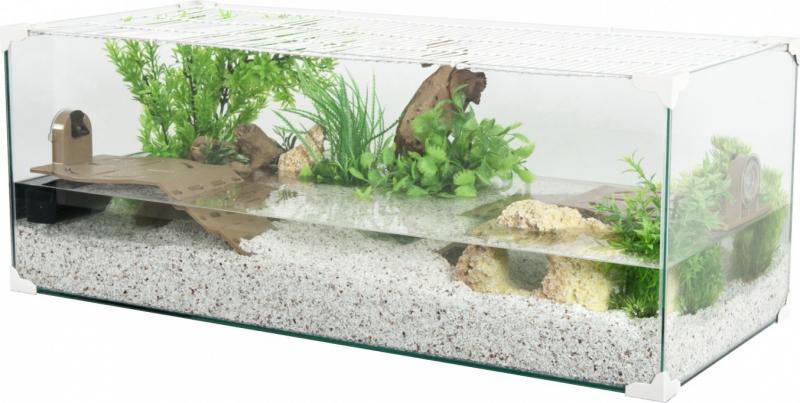 Aquarium tortue Karapas blanc - plusieurs tailles